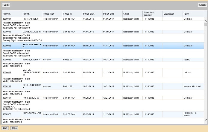 NDoc home health billing software screenshot