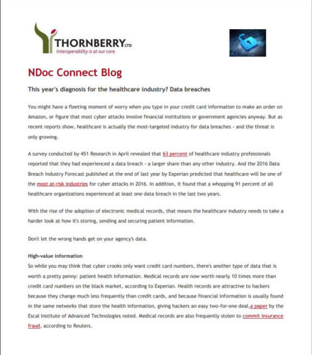 nDoc Connect Blog